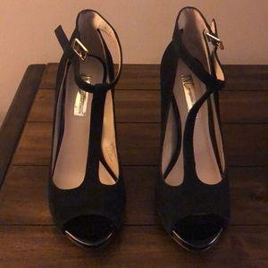 Black Suede heel pump by INC size 6.5.